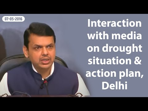 CM Shri Devendra Fadnavis interacting with media at Delhi