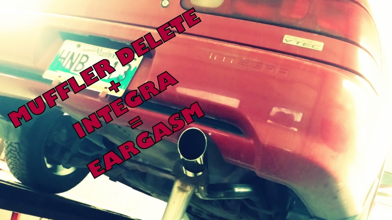 MUFFLER DELETE ON INTEGRA YouTube - 1990 acura integra muffler