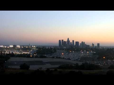 A beautiful view of Dodger Stadium