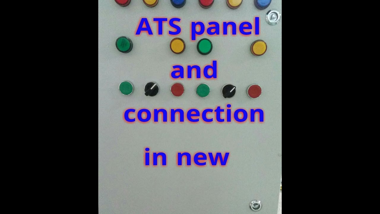 Auto transfer switch (ATS) working and ats control panel wiring diagram