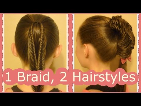 back-to-school-hairstyles,-split-fishtail-braid-ponytails