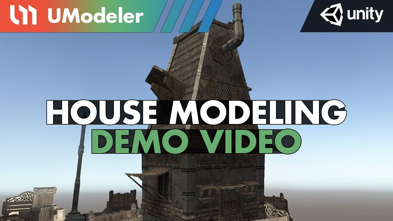 Medieval House Modeling with UModeler in Unity
