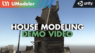 Medieval House Modeling with UModeler 2.0 in Unity