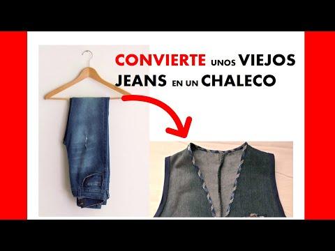 Chaleco vaquero a partir de un pantalón - YouTube 528df345e251
