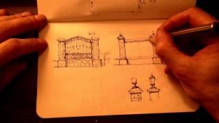 Sketch. Эскизирование Забора