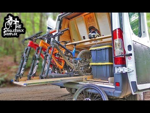 CUSTOM DIY SLIDE OUT BIKE RACK #VANLIFE // Singletrack Sampler Van Build Ep. 7