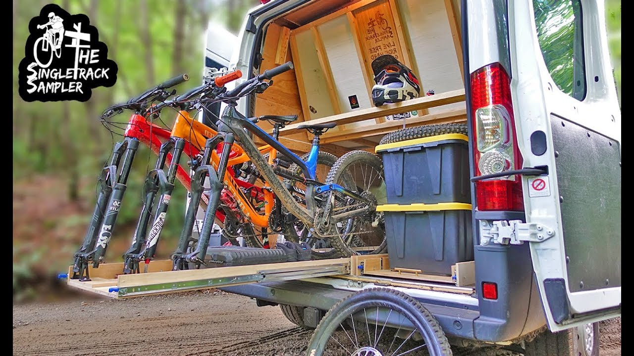 Custom Diy Slide Out Bike Rack Vanlife Singletrack