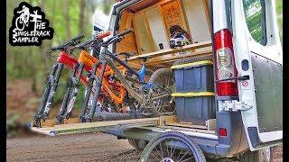 CUSTOM DIY SLIDE OUT BIKE RACK #VANLIFE // Singletrack Sampler Van Build Ep. 5