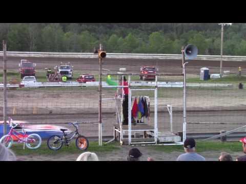 Hummingbird Speedway (6-10-17): Sunny 106.5 FM Pure Stock Heat Race #1