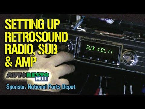 FINAL Retrosound Speakers Quadraphonic 4 and Subwoofer Tuning Fairlane  Episode 258 Autorestomod