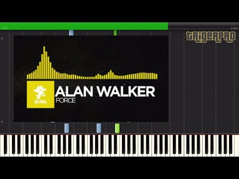 Alan Walker - Force (Piano Tutorial) [ Synthesia] Quick Riff