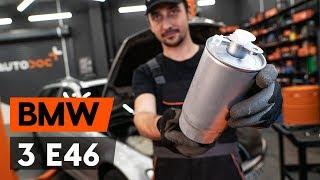 Cоmo cambiar filtro de combustible BMW 3 (E46) [INSTRUCCIÓN AUTODOC]