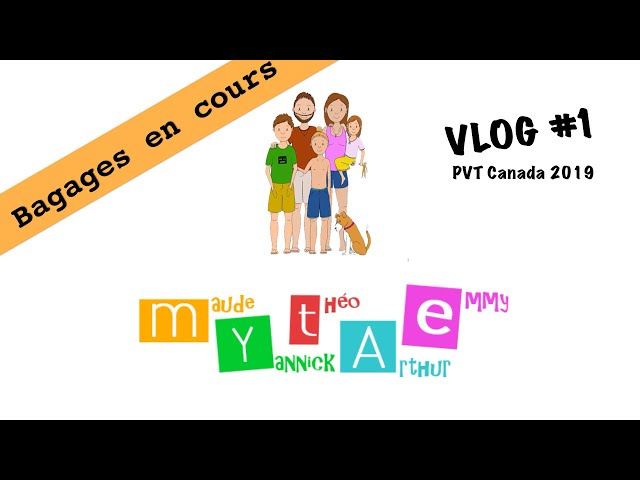 Vlog #1 - PVT 2019 Canada - bagages en cours