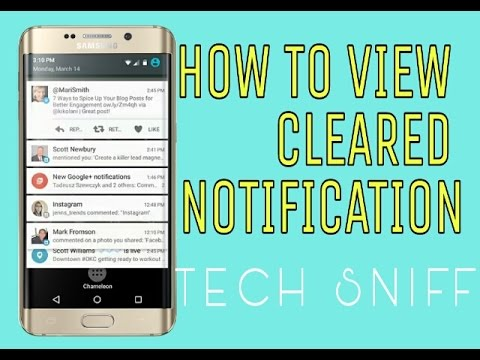 How To View Cleared Or Deleted Notifications Youtube