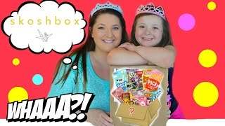 Skosh Box August 2015 JAPANESE CANDY SURPRISE BOX! Americans taste test Japanese candy!!