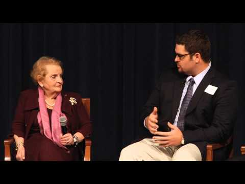 Madeleine Albright with the Cook Leadership Academy Fellows