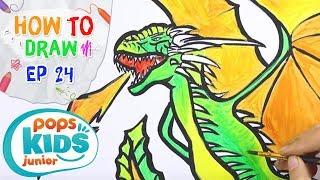 Sắc Màu Tuổi Thơ - Tập 24 - Bé Tập Vẽ Rồng Trong Phim Game Of Thrones | How To Draw A Dragon
