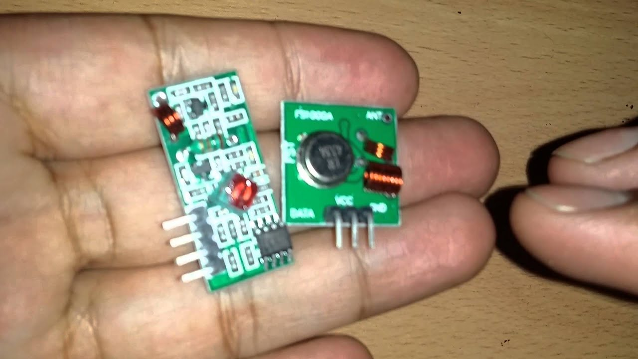 433mhz Rf Transmitter Module And Receiver Link Kit For Arduino Youtube Thermometer Circuit With Electronic