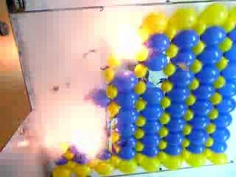 exploding balloon wall youtube. Black Bedroom Furniture Sets. Home Design Ideas