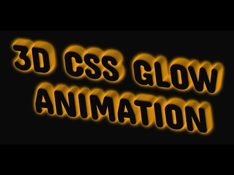 3D CSS Glow Animation Effect || HTML And CSS