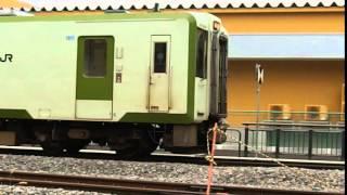 飯山線ディーゼル車両 飯山駅2016年3月