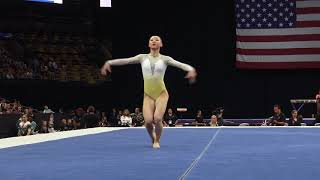Kara Eaker – Floor Exercise – 2018 U.S. Gymnastics Championships – Senior Women Day 2