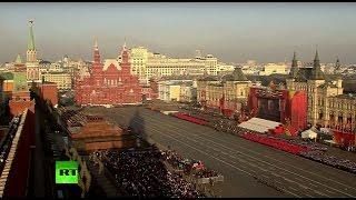 Торжественный марш в честь 74-ой годовщины парада 7 ноября 1941 года