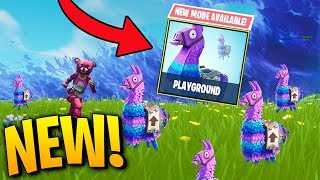 *NEW* PLAYGROUND LTM GAMEPLAY & NEW SKINS! NEW FORTNITE HUGE UPDATE! Fortnite Playground LTM Update
