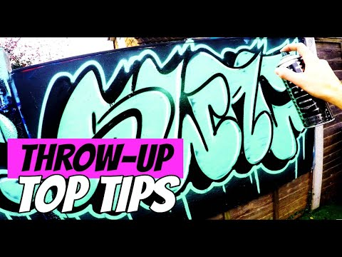 How to Paint a Throw-Up // GRAFFITI TUTORIALS