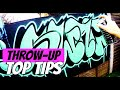 How to Paint a Throw-Up    GRAFFITI TUTORIALS