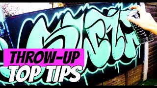 How to Paint a Throw-Up || GRAFFITI TUTORIALS