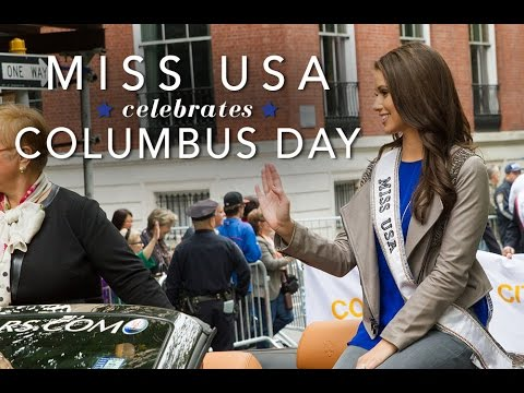 Miss USA 2014 walks in the Columbus Day Parade - YouTube