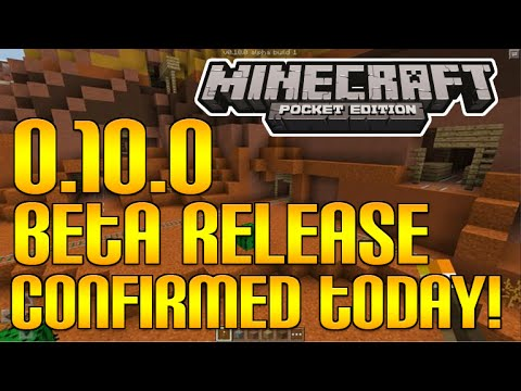 Minecraft Pocket Edition - 0.10.0 UPDATE! BETA RELEASE CONFIRMED TODAY + IOS BETA INFO [MCPE 0.10.0]