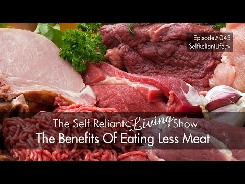 The Benefits Of Eating Less Meat - Self Reliant Living #043