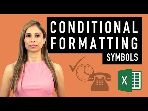 Excel Conditional Formatting with Symbols and Icons (for better reports)