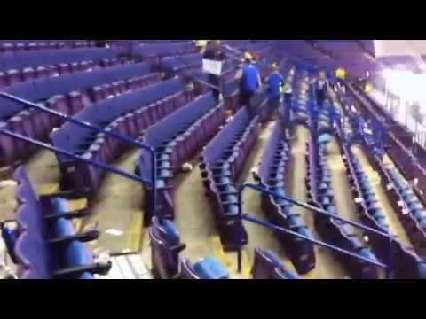 After the Blues game - a typical Scottrade Center (trash is everywhere)