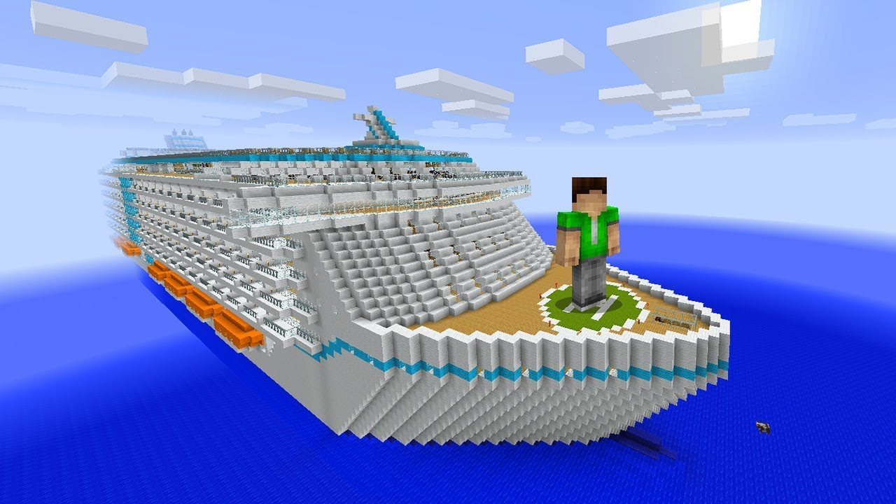 DON'T SINK THE CRUISE SHIP in Minecraft! - YouTube