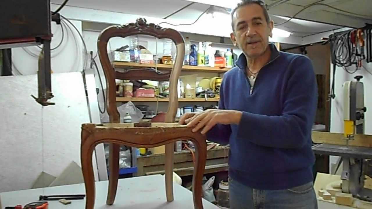 Restauro sedia cap 1 youtube - Tappezzare una sedia ...