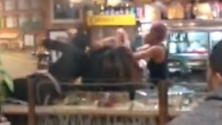 Brutal Fight Breaks Out In NYC Diner