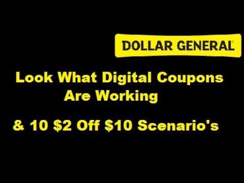 10 Scenario's for $2 off $10 @ Dollar General 9/24-9/26/17 ------Dollar General Couponing