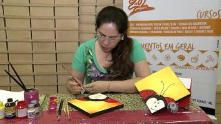 Pintura em Caixa – Joaninha – Cenário Feminino