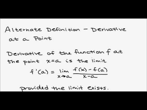 Calculus - 3 1 Derivative of a Function (Part 1)
