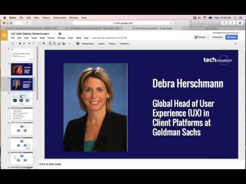 UX with Debra Herschmann of Goldman Sachs