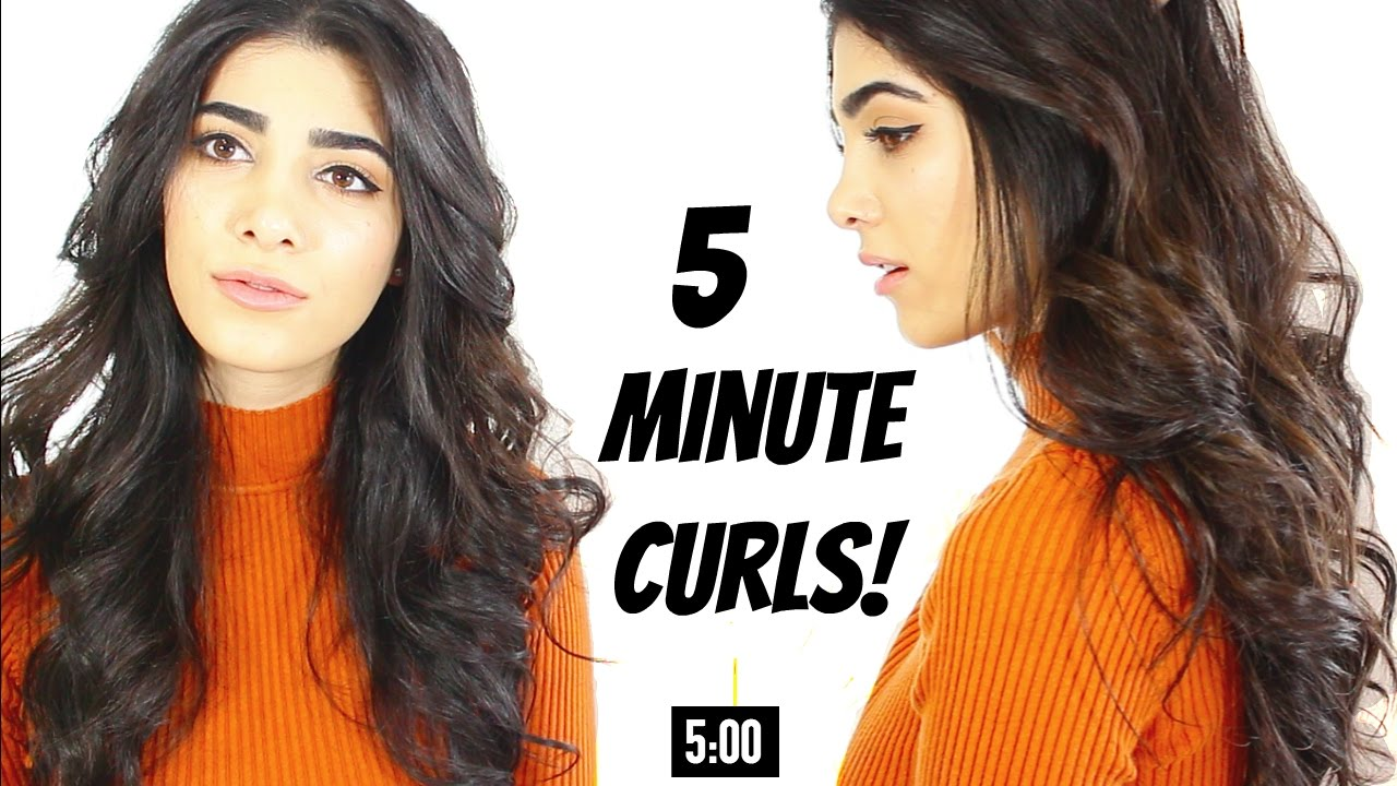 5 Minute Curls Quick Easy Hair Hack Youtube