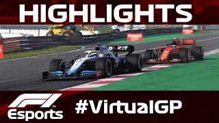 F1 Virtual Spanish Grand Prix Highlights | Aramco