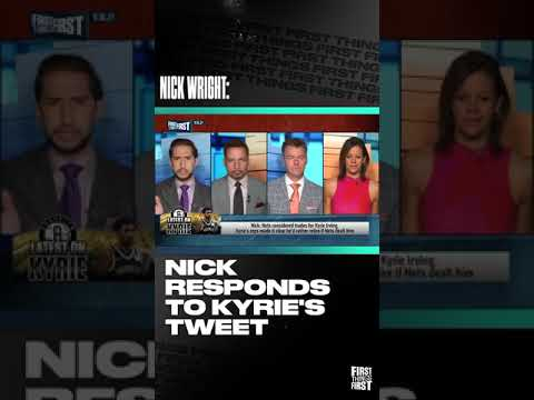 Nick Responds to Kyrie's tweet | FIRST THINGS FIRST #shorts