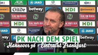PK nach dem Spiel | Hannover 96 - Eintracht Frankfurt
