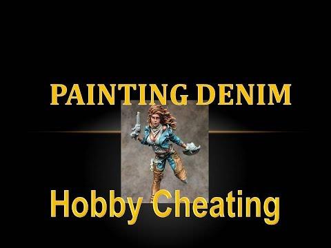 Hobby Cheating 111 - How to Paint Denim