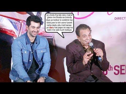 Dharmendra & Karan Deol's Back To Back FUNNY Hilarious Moment | Pal Pal Dil Ke Paas Trailer Launch