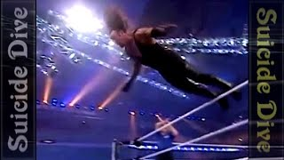 Undertaker Top 10 - Suicide dive (Most dangerous dives)